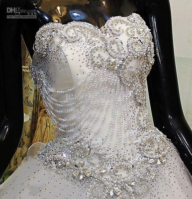 Bored on a friday night so here 39 s a fun question for Blinged out wedding dress