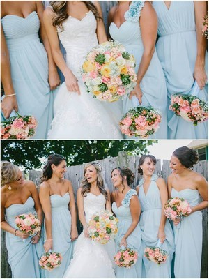 Light Blue And Champagne Wedding Colors