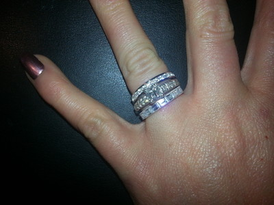 i just thought i would share my temporary solution to wedding band cost and how to buy yourself some time if you need it - Diamonique Wedding Rings