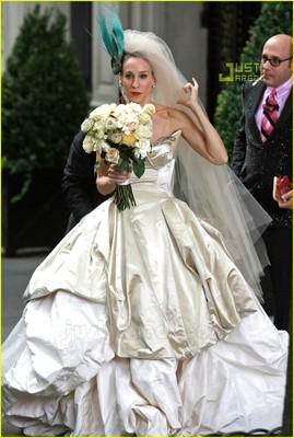 Ugly celebrity wedding dresses weddings beauty and for Sarah jessica parker wedding dress