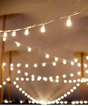 String lighting vs Bistro Lighting Weddings Style and Decor