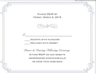 rsvp card wording weddings do it yourself planning fun stuff