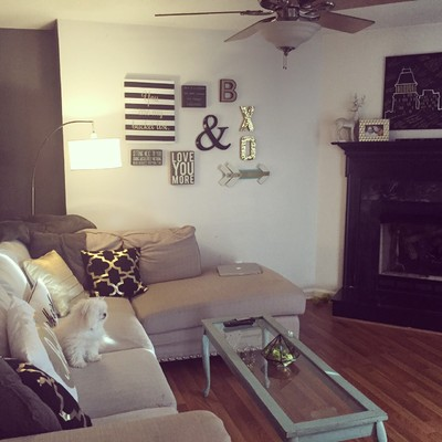 What to do with all of the wedding decor you bought for Redecorate my living room