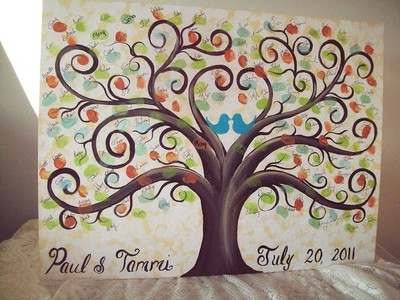 Emejing Fingerprint Tree For Wedding Pictures - Styles & Ideas 2018 ...