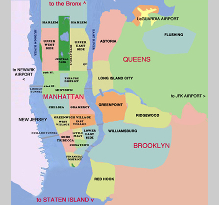 New York City Maps NYC And Manhattan Map File5 Boroughs Labels