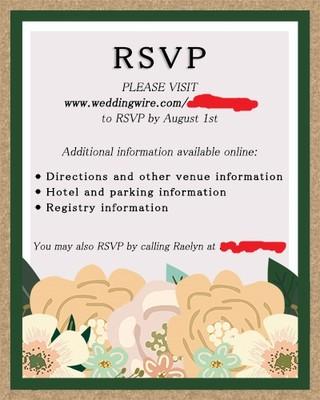 rsvp wedding online