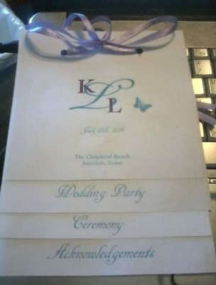 I Got The Template From Lcipaper Kb How To Make A Tiered Wedding Program With Ribbon Handle