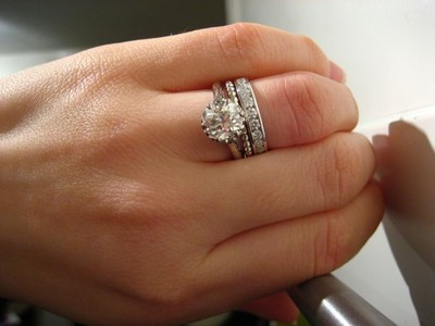 i was talking to my fmil and she said that the wedding band is always first then the engagement ring is there a right way and a wrong way to wear you - How To Wear Your Wedding Ring