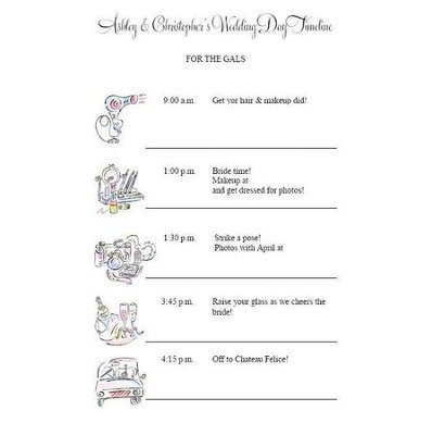 DayOf Schedule For Pm Weddings  Weddings Planning  Wedding