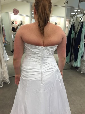 Cheap Oops Here Is A Pic Of My Back Fat Issue With Wedding Dress