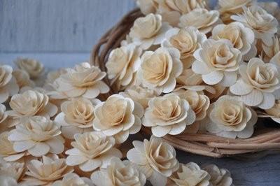 wooden flowers wedding