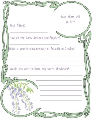 Custom Guestbook Pages  Weddings Fun Stuff  Wedding Forums