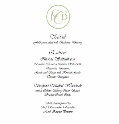 Menu Sample Layout | Weddings, | Wedding Forums | WeddingWire