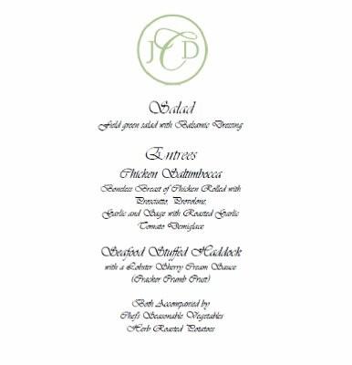 wedding menu samples wedding menu template printable instant