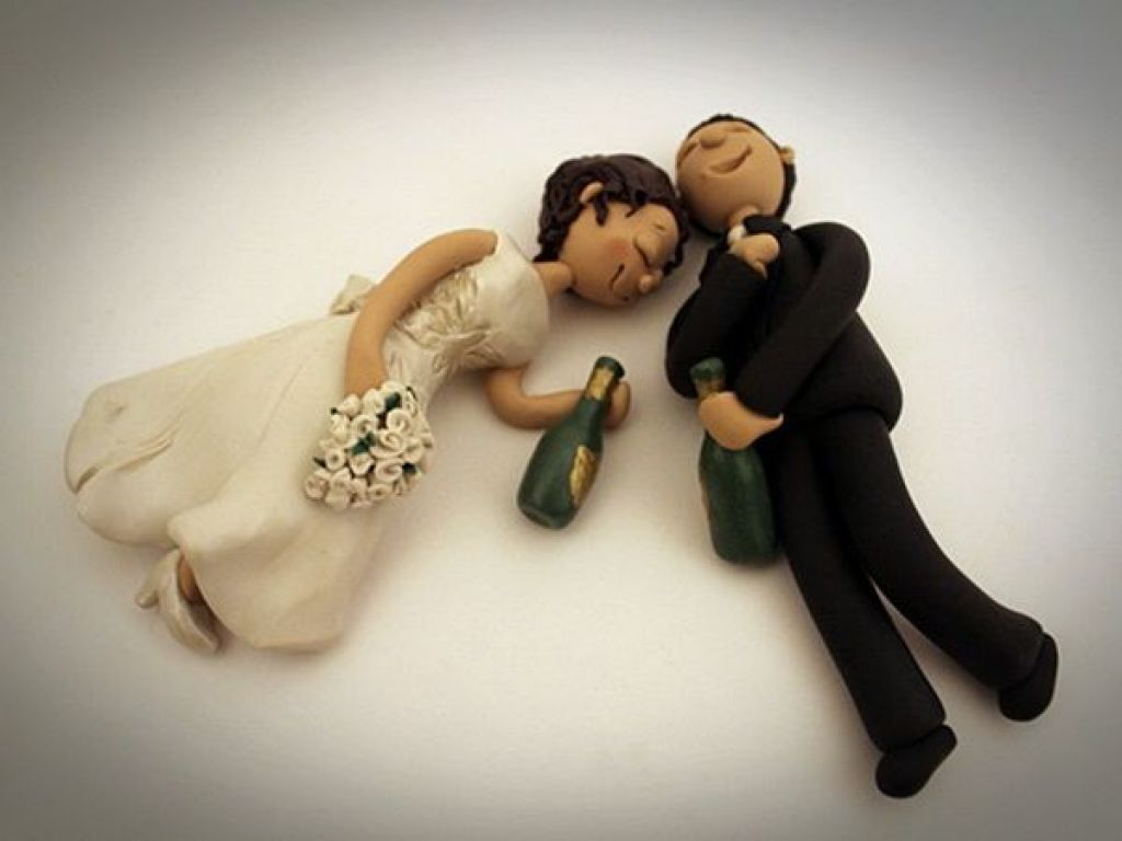Drunk Wedding Cake Topper