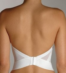 Bustier vs adhesive bra weddings beauty and attire for Low cut bra for wedding dress
