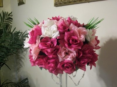 DIY Centerpiece With Silk Flowers From Pic Weddings