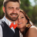 130x130 sq 1485318484 60ef0c7d41f33213 european bride groom kissing park summer 44319154