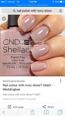 Nail color for ivory wedding dress