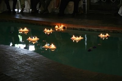 floating candles weddings planning style and decor wedding forums weddingwire ForFloating Candles Swimming Pool Wedding