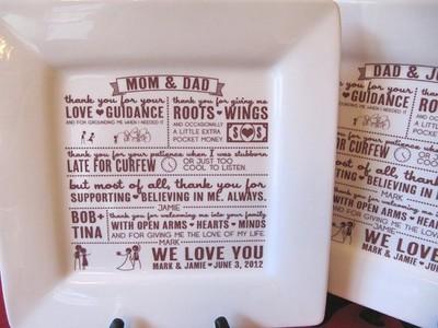 Parents Wedding Gift From Bride and Groom Help Weddings, Etiquette ...