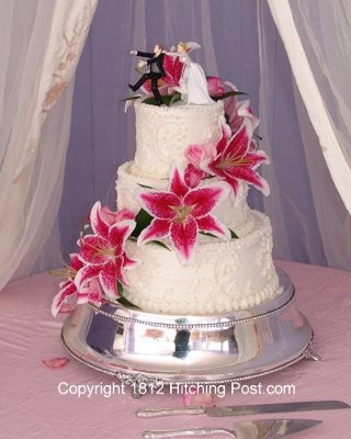 stargazer lily wedding cake lets see those cakes or cuppcakes weddings 20497
