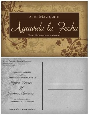 My Save The Dates I Ordered Postcards In English And Spanish Tell Me What You Think