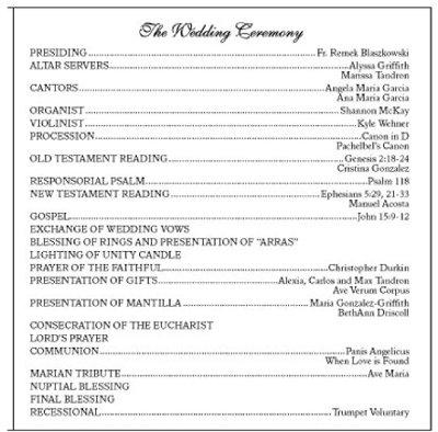 Traditional Wedding Ceremony Script. A Nonboring Wedding Ceremony ...