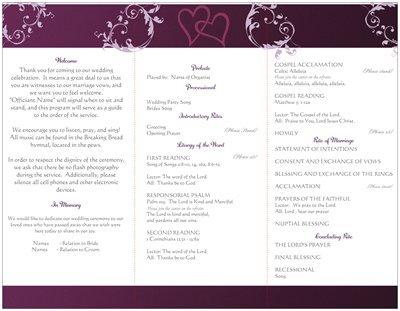 Catholic Wedding Program with Mass
