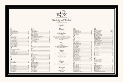 Where to tell guests to sit Weddings Planning – Wedding Planning Guest List Template