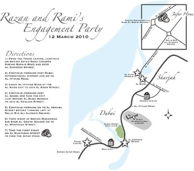 wedding invite maps template