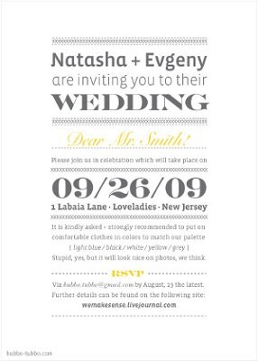 Wedding Invitation Wording Informal Funny Matik for
