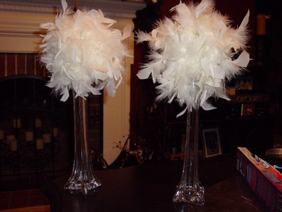 ostrich feather centerpieces diy | Crafting