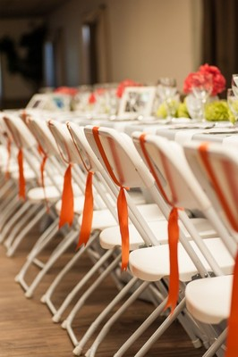 Decorate folding chairs