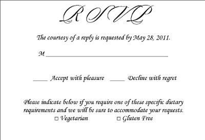 RSVP wording question Weddings Planning – Rsvp Wording Template