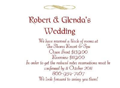 Hotel Inserts Need Help With Wording Weddings Planning Wedding Forums WeddingWire