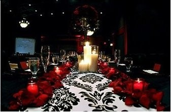 Black/Red Damask Wedding   Weddings, Planning, Style and ...
