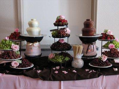 Candy bar chocolate fountain Weddings Planning