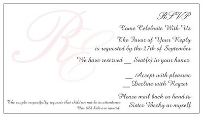 How Does My Rsvp Card Wording Sound Weddings Etiquette And Advice Wedding Forums Weddingwire