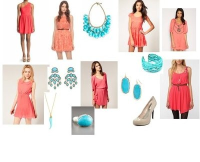 Colors That Compliment Pink i need accent colors that go with coral!! | weddings, style and