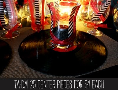 Using records in centerpieces ideas weddings style for Record decoration ideas