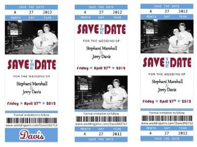 baseball ticket DIY STD.. Opinions please | Weddings, Etiquette ...
