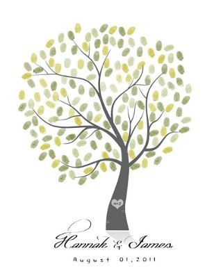 Fingerprint tree guest book alternative weddings planning thanks i will take a look at them this one the best one i saw on etsy pronofoot35fo Gallery