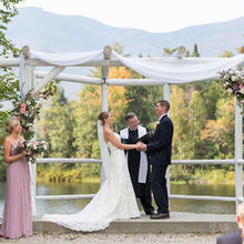Photo of Waterville Valley Resort in Waterville Valley, NH - The ceremony backdrop is picture perfect!