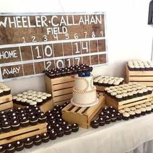 Photo for A to Z cakes, LLC Review - Our vintage baseball theme wedding cake with 3 cupcake kinds