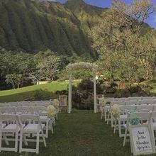 Photo of Spinning WEB Florist in Honolulu, HI - ceremony site setup