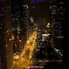Photo for Wyndham Grand Chicago Riverfront Review - View from the Penthouse at night