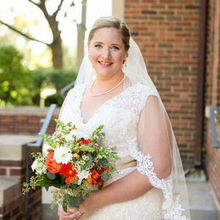 Photo of Jane's Blue Iris Ltd. in Hinsdale, IL - bouquet with dress