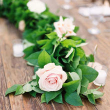 Photo for The Bloemist Review - Romantic flower garland on a guest table