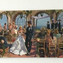 Photo of Laura Jane Fine Art | Live Wedding Painter in Santa Ana, CA - The painting from the ceremony!